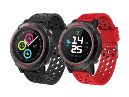iGET ACTIVE A8 - chytré hodinky, IP68, GPS, BT4.0, 1,3'' displ., Multisport, 500mAh + 2x pásek, A8
