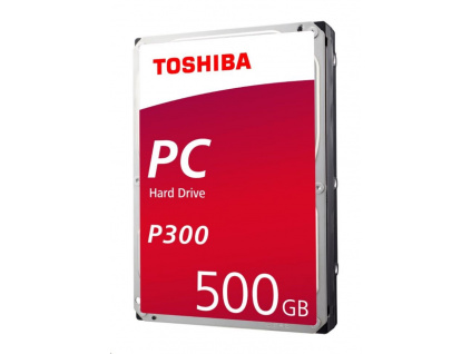 "TOSHIBA HDD P300 Desktop PC (CMR) 500GB, SATA III, 7200 rpm, 64MB cache, 3,5"", BULK, HDWD105UZSVA"