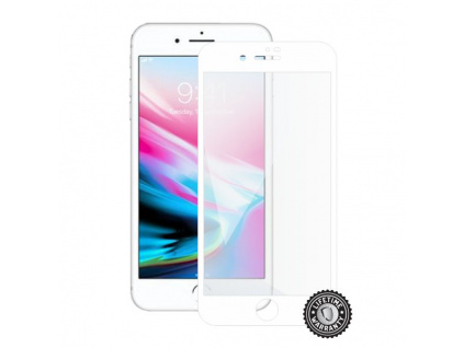Screenshield APPLE iPhone 8 Plus Tempered Glass Protection (full COVER white), APP-TG3DWIPH8P-D