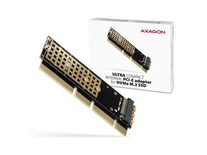 AXAGON PCEM2-1U, PCIe x16/x8/x4 - M.2 NVMe M-key slot adaptér, 1U, PCEM2-1U