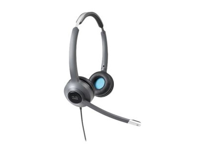 Cisco Headset 522 (Wired Dual with 3.5mm connector and USB-C Adapter), CP-HS-W-522-USBC