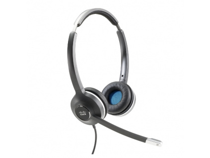 Cisco Headset 532 (Wired Dual with Quick Disconnect coiled RJ Headset Cable), CP-HS-W-532-RJ=
