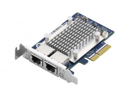QNAP QXG-5G2T-111C - 5GbE (2 porty) PCIe karta pro PC i NAS, QXG-5G2T-111C