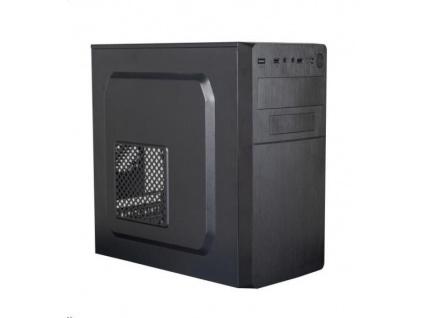 EUROCASE skříň MC X204 black, micro tower, 2x USB 2.0, bez zdroje