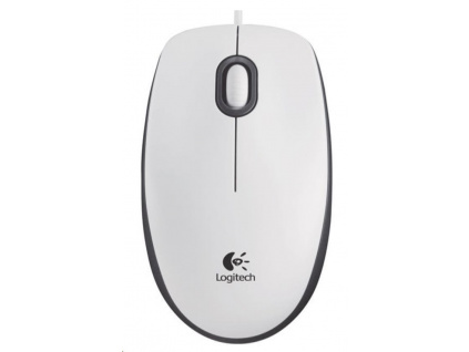 Logitech Mouse M100, white, 910-005004