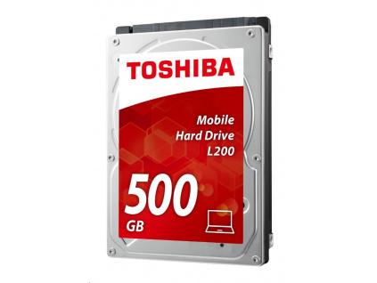 """TOSHIBA HDD L200 500GB, CMR, SATA III, 5400 rpm, 8MB cache, 2,5"""", 7mm, BULK"""