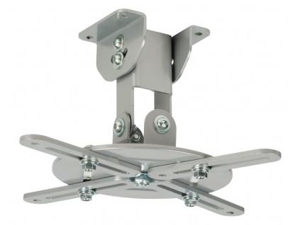 VALUELINE stropní držák pro projektor/ nosnost 10 kg/ otáčení 360°/ 4 ramena/ stříbrný