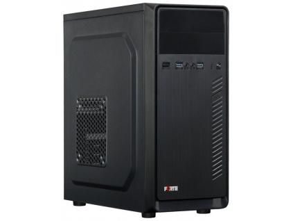 PORTE skříň MidT B31 / Middle tower / bez zdroje / 2x USB 3.0 / černá