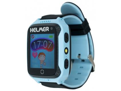 HELMER dětské hodinky LK 707 s GPS lokátorem/ dotykový display/ IP65/ micro SIM/ kompatibilní s Android a iOS/ modré, Helmer LK 707 B