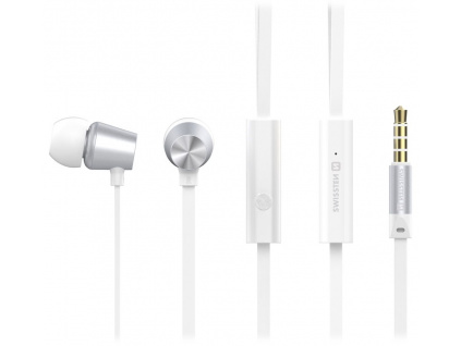 Swissten Sluchátka Earbuds Dynamic Ys500 Stříbrno/Bílé, 51107002