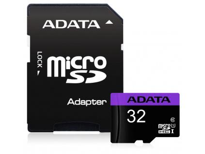 ADATA Premier 32GB microSDHC/ UHS-I CL10 + adaptér, AUSDH32GUICL10-RA1