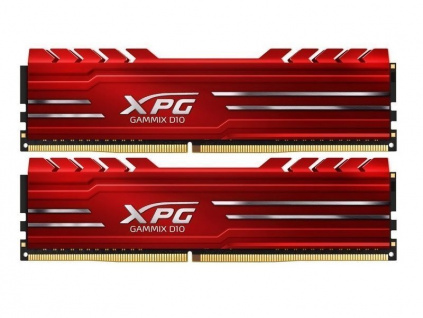 ADATA XPG Gammix D10 32GB DDR4 2666MHz / DIMM / CL16 / červená / KIT 2x 16GB, AX4U2666716G16-DR10