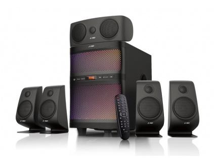 POŠKOZENÝ OBAL - FENDA F&D repro F5060X/ 5.1/ 135W/ černé/ BT4.0/ FM rádio/ USB/SD přehrávání/ dálkové ovládání