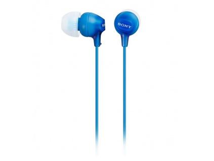 SONY headset do uší MDREX15APL/ sluchátka drátová + mikrofon/ 3,5mm jack/ citlivost 100 dB/mW/ modrá, MDREX15APLI.CE7
