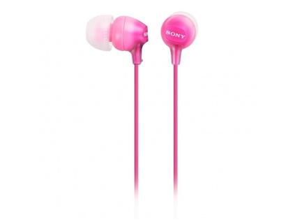 SONY headset do uší MDREX15APP/ sluchátka drátová + mikrofon/ 3,5mm jack/ citlivost 100 dB/mW/ růžová, MDREX15APPI.CE7