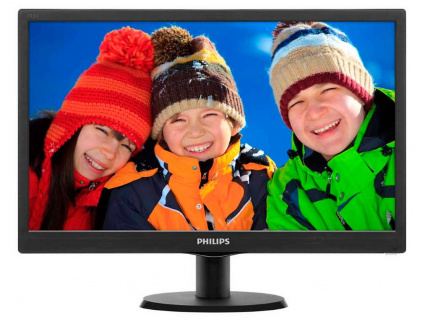 "PHILIPS 18,5"" LED 193V5LSB2/ 1366x768/ TFT/ 16:9/ 5ms/ 200cd/m2/ D-SUB/ VESA 100x100/ černý, 193V5LSB2/10"