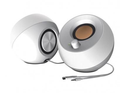 CREATIVE PEBBLE, reproduktory 2.0, USB, bílé, 51MF1680AA001