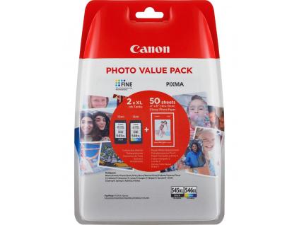 Canon Cartridge PG-545XL/CL-546XL (CMYBk) + 50x GP-501 pro PIXMA MG2450, MG2550, MG2555, MX495, MG2950