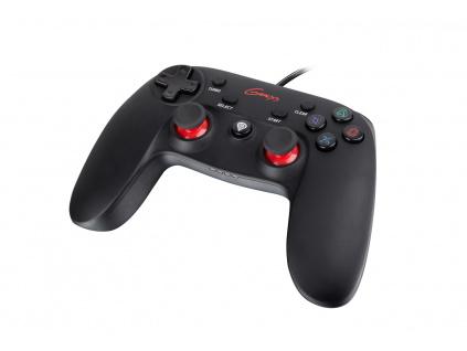 Drátový gamepad Genesis P65, pro PS3/PC, vibrace, NJG-0707