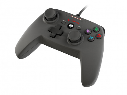 Drátový gamepad Genesis P58, pro PS3/PC, vibrace, NJG-0773