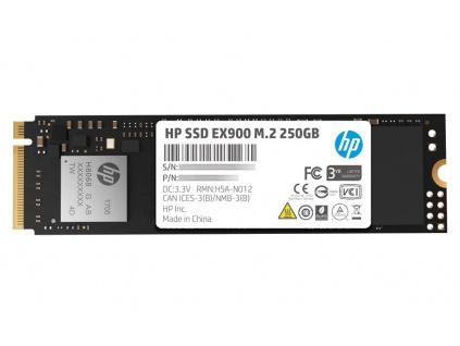 HP SSD EX900 250GB / Interní / M.2 / PCIe Gen 3 x 4 NVMe 1.3 / 3D TLC, 2YY43AA#ABB