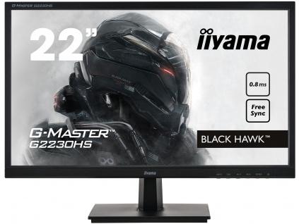 22'' iiyama G-Master G2230HS-B1: TN, FullHD@75Hz, 0.8ms, HDMI, DP, VGA, FreeSync, černý, G2230HS-B1
