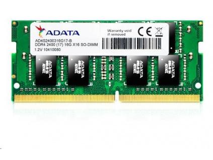 SODIMM DDR4 4GB 2400MHz CL17 ADATA Premier memory, 512x16, Retail, AD4S2400J4G17-R