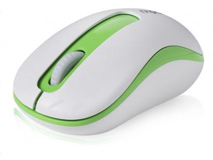 RAPOO myš M10 USB, optická, bezdrátová, 2.4G, zelená, 6940056109293