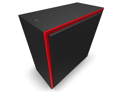 NZXT skříň H710 / ATX / průhledná bočnice / USB 3.0 / USB-C 3.1 / černočervená, CA-H710B-BR