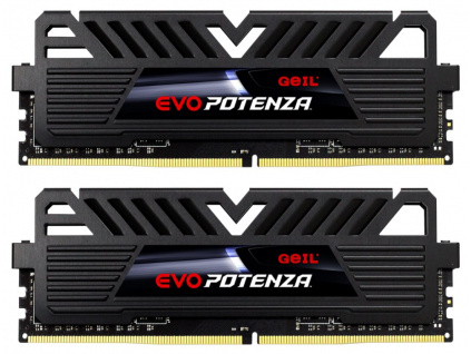 GEIL RAM DDR4 8GB 2133MHz EVO POTENZA / DIMM / KIT 2x 4GB / CL15 / Heatshield / Černé, GPB48GB2133C15DC