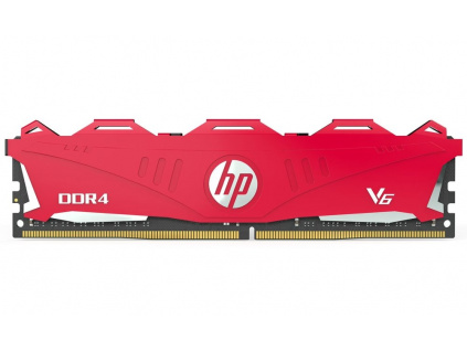 HP Gaming V6 8GB DDR4 2666 MHz / DIMM / CL18 / 1,2V / Heat Shield / Červená, 7EH61AA#ABB