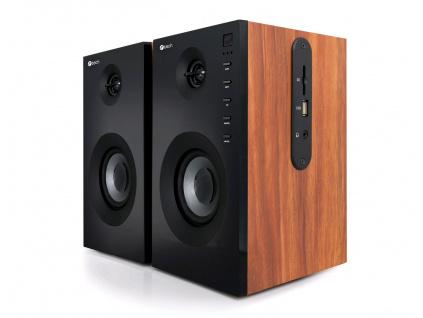 Repro C-TECH SPK-550BT, 2.0, Bluetooth, dálkové ovládání, dřevěné, SPK-550BT