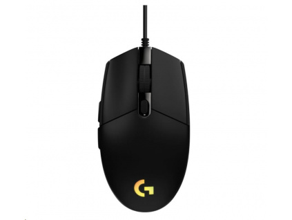 Logitech herní myš G102 2nd Gen LIGHTSYNC Gaming Mouse, USB, EER, Black, 910-005823