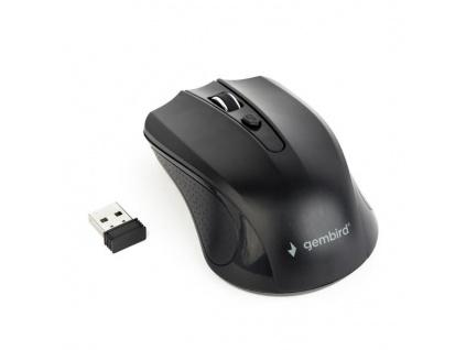 GEMBIRD myš MUSW-4B-04, černá, bezdrátová, USB nano receiver, MUSW-4B-04