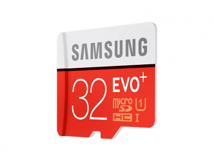 Samsung Micro SDHC karta 32GB EVO Plus(Class 10 UHS-1) + SD adaptér, MB-MC32GA/EU