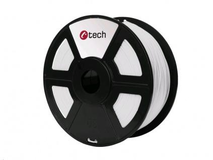 C-TECH Tisková struna (filament) PETG, 1,75mm, 1kg, bílá, 3DF-PETG1.75-W