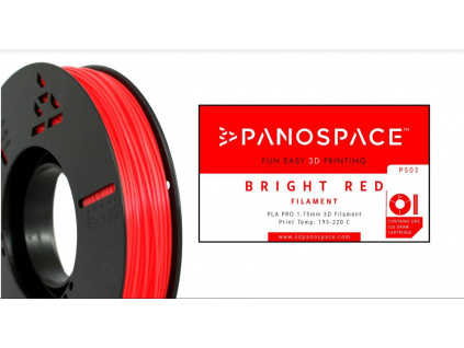 FILAMENT Panospace type: PLA -- 1,75mm, 326 gram per roll - Červená, PS-PLA175RED0326