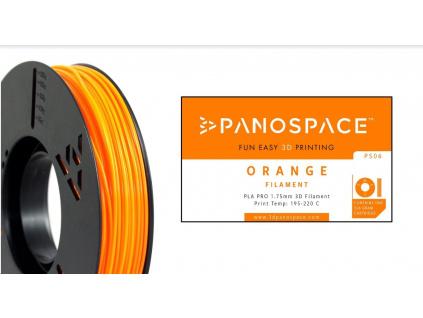 FILAMENT Panospace type: PLA -- 1,75mm, 326 gram per roll - Oranžová, PS-PLA175ORA0326