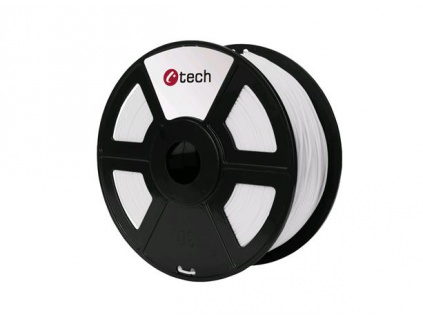 C-TECH tisková struna ( filament ) , HIPS, 1,75mm, 1kg, bílá, 3DF-HIPS1.75-W