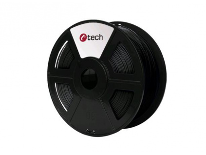 C-TECH tisková struna ( filament ) , ABS, 1,75mm, 1kg, černá, 3DF-ABS1.75-BK