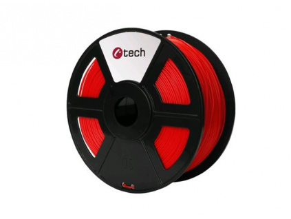 C-TECH tisková struna ( filament ) , ABS, 1,75mm, 1kg, červená, 3DF-ABS1.75-R