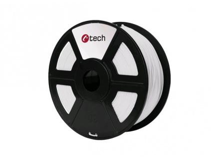 C-TECH tisková struna ( filament ) , ABS, 1,75mm, 1kg, bílá, 3DF-ABS1.75-W