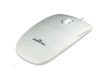 MANHATTAN Myš Silhouette USB optická, bílá, 177627