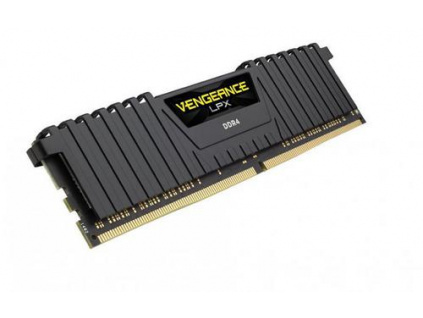 CORSAIR 4GB DDR4 2400MHz VENGEANCE LPX BLACK PC4-19200 CL16-16-16-39 1.2V XMP2.0 (s chladičem, CMK4GX4M1A2400C16