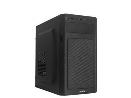 1stCOOL MicroTower STEP 3 USB2, ver.1, black černý, bez zdroje, microtower mATX (2xUSB2+ Audio) (PC case), MC-STEP3-AU-USB