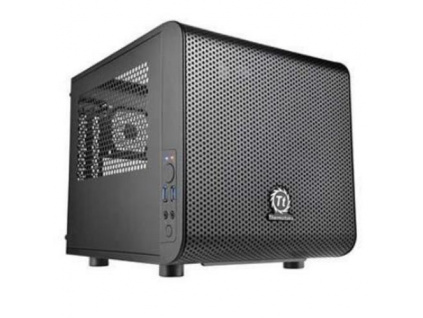 THERMALTAKE case Core V1 černý s oknem, 1x fan 120mm (ATX case bez zdroje), CA-1B8-00S1WN-00