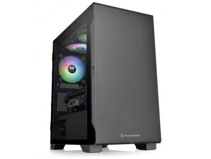 THERMALTAKE case S100 TG černý s oknem, 1x TG, 1x fan 120mm (mATX case bez zdroje), CA-1Q9-00S1WN-00