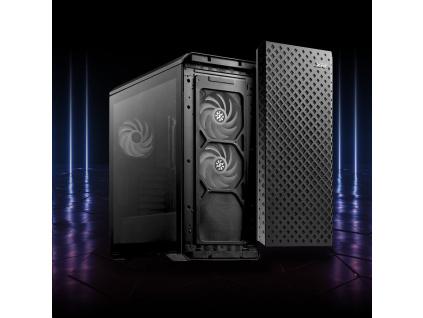 ADATA XPG skříň DEFENDER PRO Mid-Tower Case, bez zdroje, ARGB fan 3x, black, DEFENDER PRO B