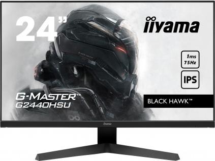 24'' iiyama G-Master G2440HSU-B1: IPS, FullHD@75Hz, 1ms, HDMI, DP, USB, FreeSync, černý, G2440HSU-B1