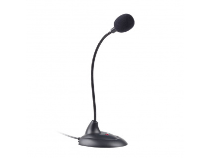 Stolní mikrofon C-TECH MIC-04E, 3,5'' stereo jack, 1,8m, MIC-04E